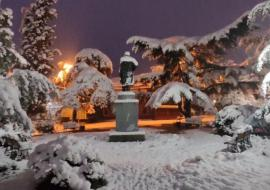 Алушта первый снег